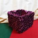 DISPONIBIL 2 BUCATI - Vas decorativ fucsia glitter 13*10cm
