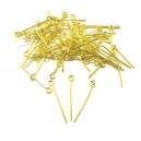 (100 buc.) Ace cu bucla aurii 2.4cm