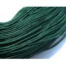 SBC1mm-14 - (1 metru) Snur bumbac cerat verde marin 1mm