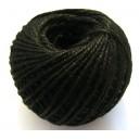 (1 metru) Snur iuta naturala neagra 2mm