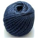 (1 metru) Snur iuta naturala bleumarin 2mm