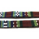(1 metru) Snur bumbac tribal plat multicolor 01 11mm