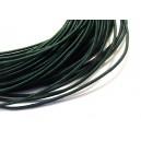 (1 metru) Snur elastic rotund verde marin 1.2mm