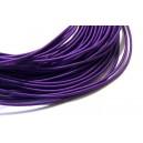(1 metru) Snur elastic rotund mov 1.2mm