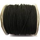 (1 metru) Snur elastic rotund negru 1mm