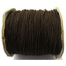 (1 metru) Snur elastic rotund maro inchis 1mm
