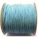 (1 metru) Snur elastic rotund albastru 1mm