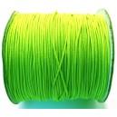 (1 metru) Snur elastic rotund verde neon 1mm