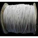 (1 metru) Snur elastic rotund alb 1mm