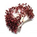 (10 buc.) Stamine burgundy perlat 3-4mm