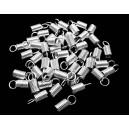 CM88 - (20 buc.) Capat snur arc argintiu 10*4.5mm