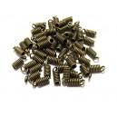 CM90 - (20 buc.) Capat snur arc bronz antic 9*3.5mm/1.8mm