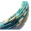 Colier sarma siliconata bleu 44cm