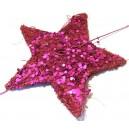 Ghirlanda sisal 10 stelute roz fucsia 180cm