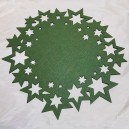 DISPONIBIL 9 BUCATI - Suport verde cu stelute pentru farfurie 40cm