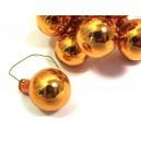 Glob sticla portocaliu oglinda 2.5cm