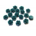 CRT11*5-1-01 - Cabochon rasina trandafir verde marin 11*5mm