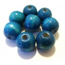 Margele lemn albastru intens 19*17.5mm