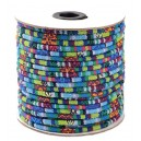 SBT6mm-05 - (1 metru) Snur bumbac tribal rotund multicolor 6mm