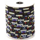 SBT6mm-07 - (1 metru) Snur bumbac tribal rotund multicolor 6mm