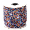 SBT6mm-12 - (1 metru) Snur bumbac tribal rotund multicolor 6mm