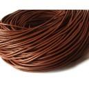 (1 metru) Snur piele naturala maro roscat 2mm