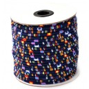 SBT6mm-14 - (1 metru) Snur bumbac tribal rotund multicolor 6mm