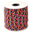 SBT6mm-15 - (1 metru) Snur bumbac tribal rotund multicolor 6mm