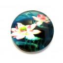 CSP25mm-A-79 - Cabochon sticla print flori 25mm - STOC FOARTE LIMITAT!!!