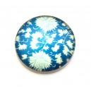 CSP25mm-A-191 - Cabochon sticla print model floral 25mm - STOC FOARTE LIMITAT!!!