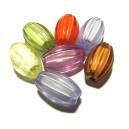 DISPONIBIL 1 SET CU 7 BUCATI - ACR20-08C - Margele acril cu miez alb ovale diverse culori 20*12mm