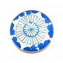 CSP25mm-A-202 - Cabochon sticla print model floral 25mm - STOC FOARTE LIMITAT!!!