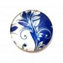 CSP25mm-A-208 - Cabochon sticla print model floral 25mm - STOC FOARTE LIMITAT!!!