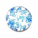 CSP25mm-A-224 - Cabochon sticla print model floral 25mm - STOC FOARTE LIMITAT!!!
