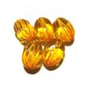 ACR18E - Margele acril ovale portocalii 20*14mm
