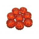 ACR19C - Margele acril rondele rosii 14*9mm