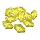 ACR20-02 - Margele acril fatetate romb galben 16*11mm