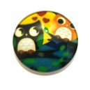 CSP20mm-A-30 - Cabochon sticla print bufnite 20mm