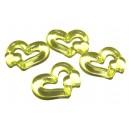 ACR20-06 - Pandantiv acril inima galben verzui 25*19mm