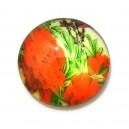 CSP20mm-A-87 - Cabochon sticla print flori 20mm - STOC FOARTE LIMITAT!!!