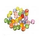 ACR26 - (50 buc.) Margele acril fatetate diverse culori sfere 6mm