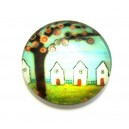 CSP16mm-A- - Cabochon sticla print copaci 16mm - STOC FOARTE LIMITAT!!!
