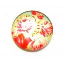 CSP16mm-A- - Cabochon sticla print flori 16mm - STOC FOARTE LIMITAT!!!
