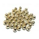 ACR42 - (10 buc.) Margele acril fatetate auriu pal sfere 6mm