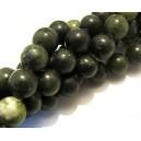 Jad taiwan verde olive foarte inchis sfere 12mm