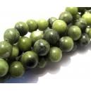 Jad taiwan verde olive inchis sfere 10mm