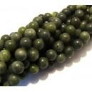 Jad taiwan verde olive foarte inchis sfere 8mm