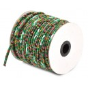 SBT4mm-02 - (1 metru) - Snur bumbac tribal rotund multicolor 4mm