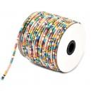 SBT4mm-09 - (1 metru) Snur bumbac tribal rotund multicolor 4mm