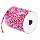 SBT4mm-10 - (1 metru) Snur bumbac tribal rotund multicolor 6mm